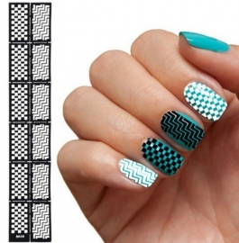 Nail art sjabloon 6