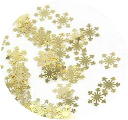Sneeuwvlok inlay goud 20 stuks