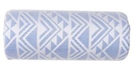Armkussen blauw/wit