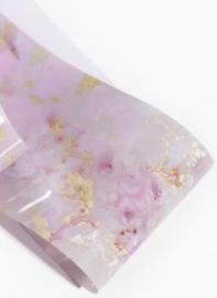 Folie marble roze/goud