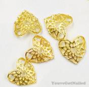 3D hart goud