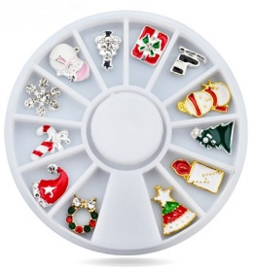Kerst 3D nail art wheel