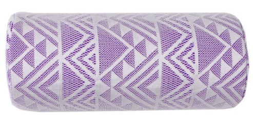 Armkussen paars/wit