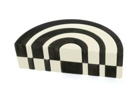 Bajo Asymmetrische Bogen Klein Zwart Wit