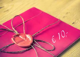 Kadobon € 10,-