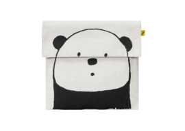 Fluf Flip Snack Sack - Panda Black