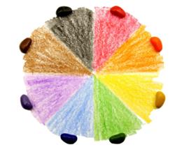 Crayon Rocks 8st