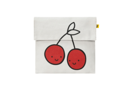 Fluf Flip Snack Sack - Cherries Red