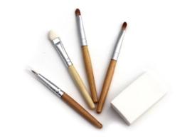 Set bamboe kwasten voor schmink