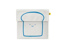 Fluf Flip Snack Sack - Happy Bread Blue