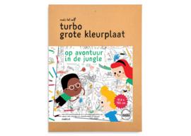 Turbo Grote Kleurplaat - Jungle