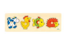 Goki 4-delige dierenpuzzels