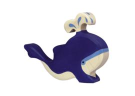 Holztiger Blauwe walvis met Waterfontein 80195