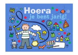 Unieke Postkaart Jarig jongen