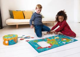 Scratch 150 delige puzzel Wereldkaart