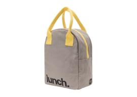 Fluf Zipper Lunch - Lunch Grey Yellow