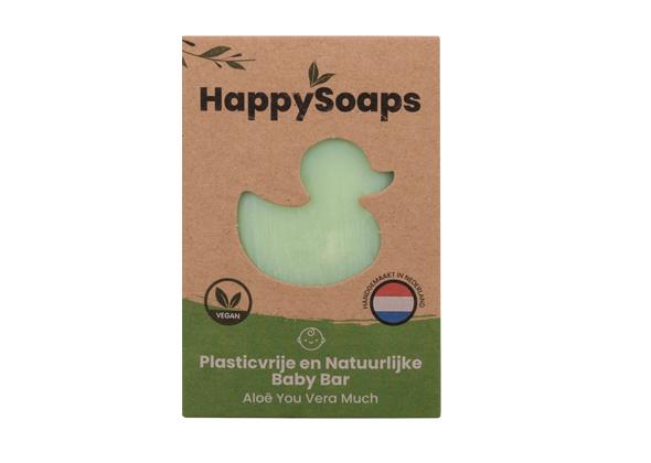 HappySoaps Baby Shampoo en Body Wash Bar Aloë You Vera Much