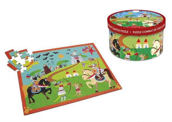 Scratch 60 delige puzzel Ridder