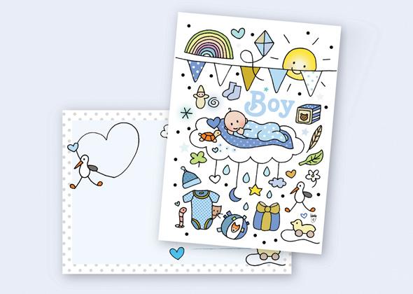 Unieke Postkaart Boy