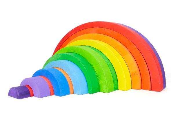 Bajo Asymmetrische Bogen Groot Gekleurd