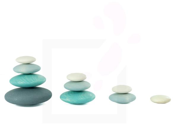 Bajo Gekleurde houten balanceerstenen (Pebbles)