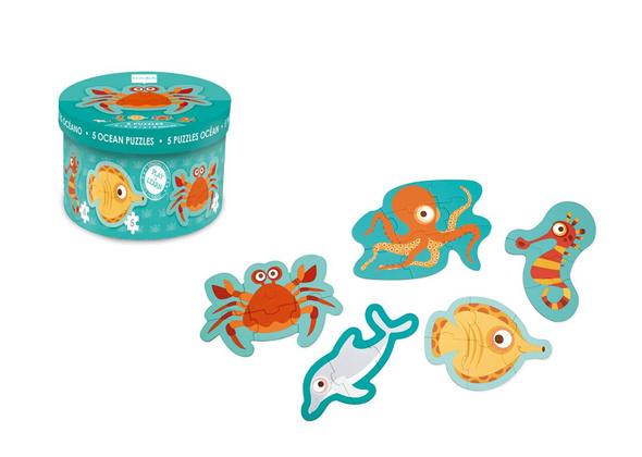 Scratch Starterpuzzels (5 st) Oceaan