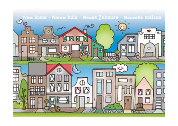 Unieke Postkaart Nieuw Huis