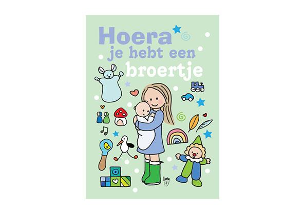 Unieke Postkaart Broertje Groen