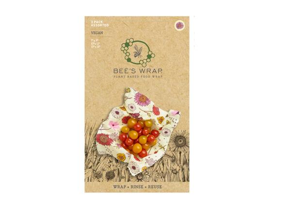 Bee's Wrap 3-pack Meadow Magic Vegan
