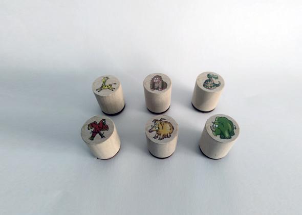 Goki Stempelset Dieren (Set van 6 stuks)