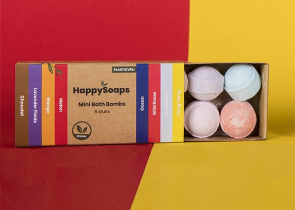 HappySoaps Mini Bath Bombs - Herbal Sweets