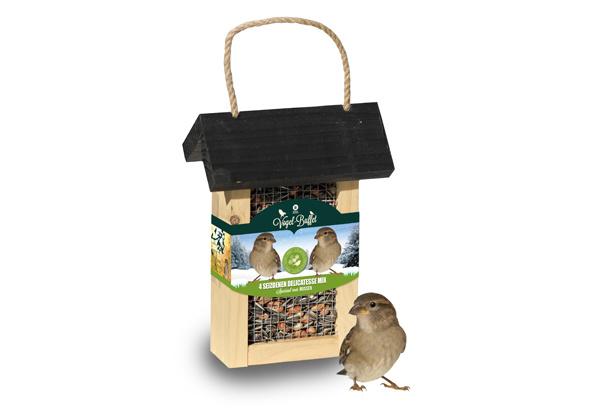 Vogel-buffet Picknick Merels en Mussen