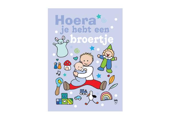 Unieke Postkaart Broertje Blauw