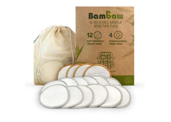 BamBaw Wasbare Wattenschijfjes 16 st