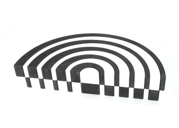 Bajo Asymmetrische Bogen Groot Zwart Wit