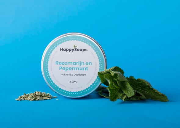 HappySoaps Natuurlijke Deo Rozemarijn Pepermunt
