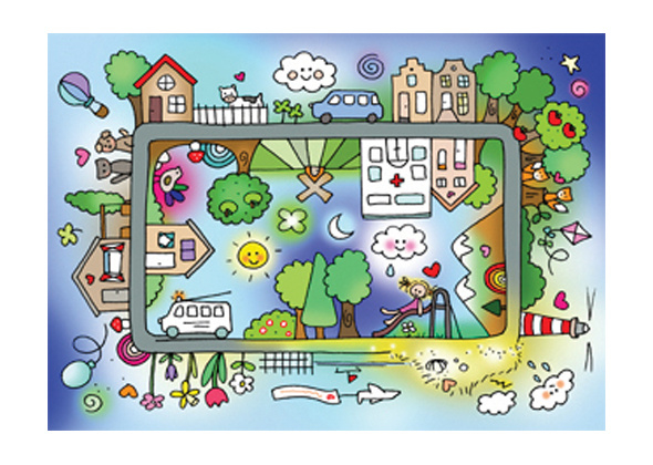 Unieke Postkaart Wereld