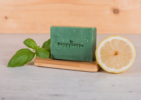 HappySoaps Body Bar Citroen Basilicum