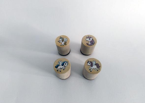 Goki Stempelset Unicorns (set van 4 stuks)