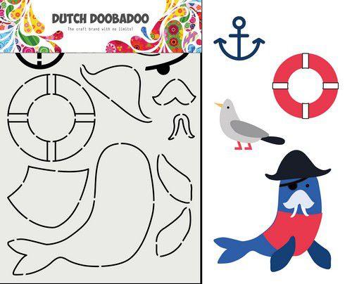 Dutch Doobadoo Card Art Built Up Zeeleeuw