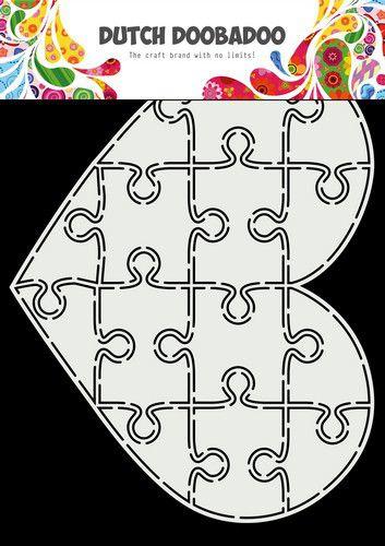 Dutch Doobadoo Card Art A5 Puzzel Hart