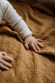Hydrofiele Swaddle S - EMBROIDERY camel