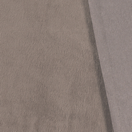 Bamboe Fleece TAUPE                 (per meter)