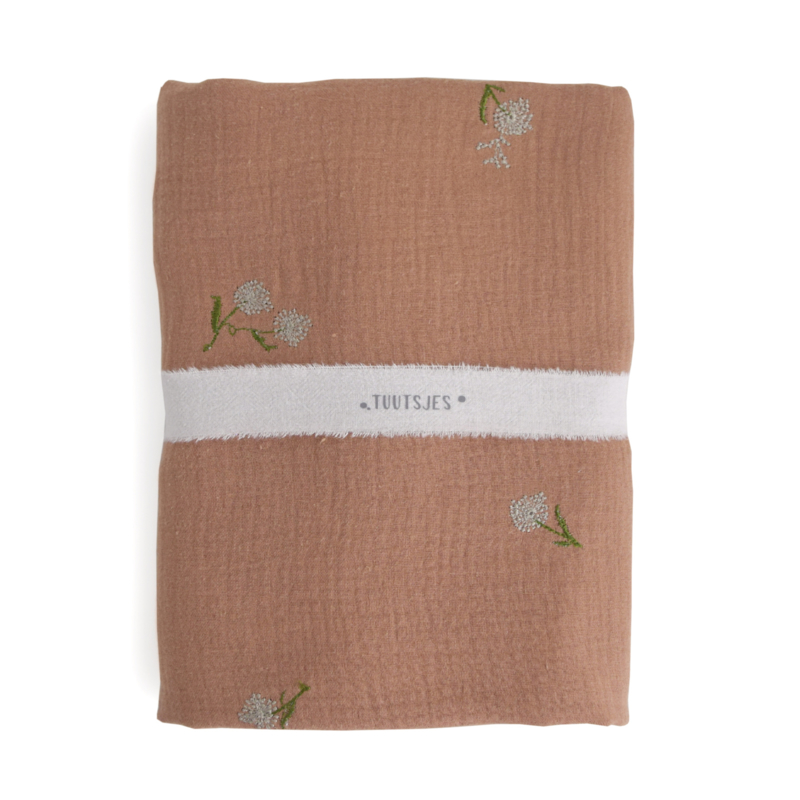 Hydrofiele Swaddle M - PINK CLAY embroidery