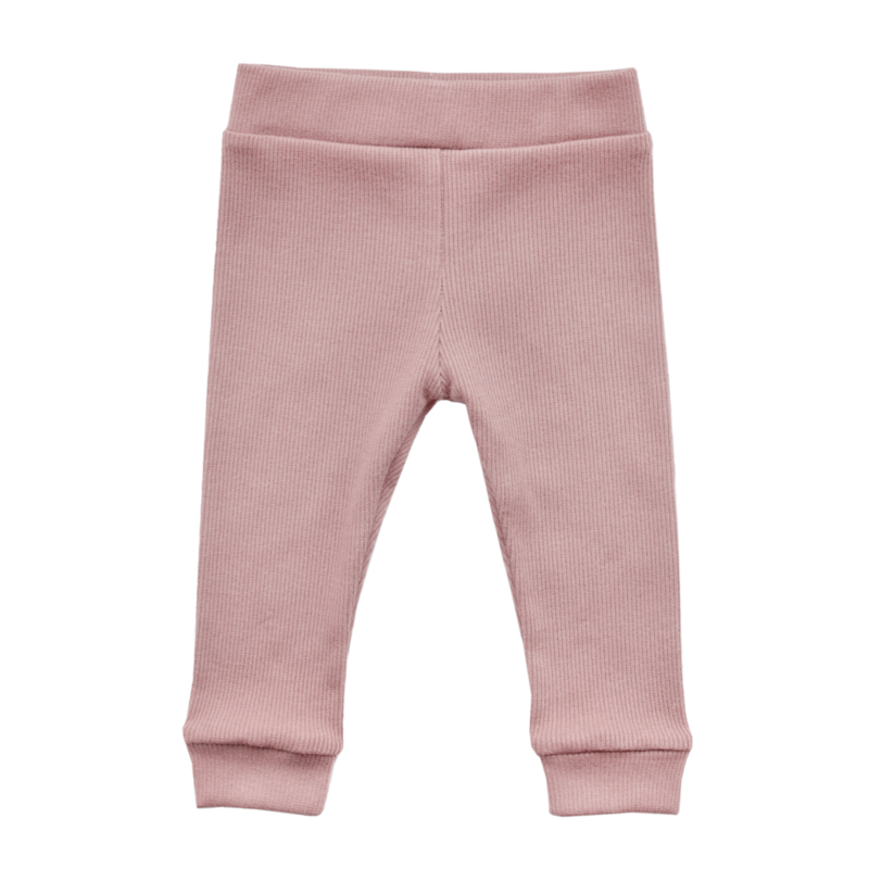 Rib-legging OLD PINK