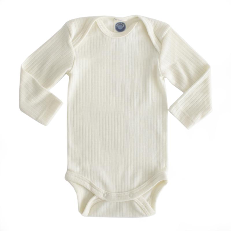 Baby body, wool/silk/cotton NATURAL