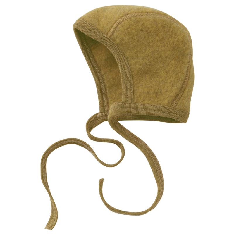 Bonnet wool-fleece SAFFRON