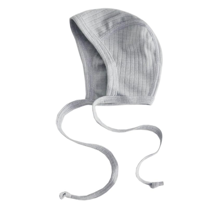 Bonnet wool/silk/cotton GREY MÉLANGE