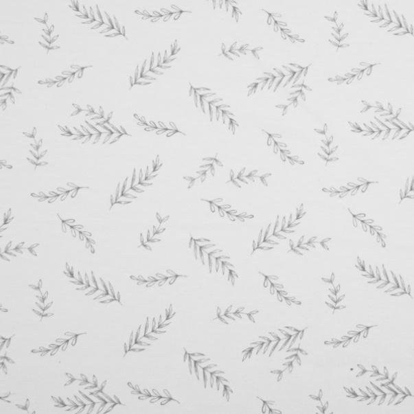 tricot LEAVES                 (per meter)