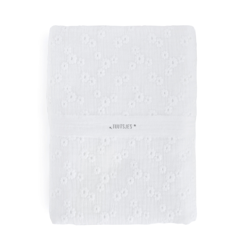 Hydrofiele Swaddle S - EMBROIDERY white